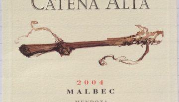 397. Catena Zapata, Catena Alta Malbec Mendoza, 2004