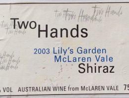406. Two Hands, Lily's Garden McLaren Vale Shiraz, 2003