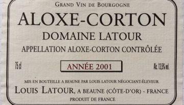 414. Louis Latour, Aloxe-Corton Domaine Latour, 2001