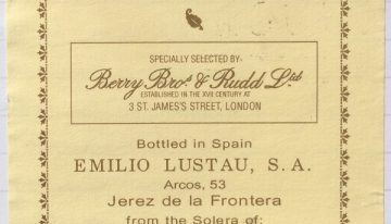 417. Emilio Lustau for Berry Bros, Oloroso Pata de Gallina 1/38 Juan Garcia Jarana Solera, NV