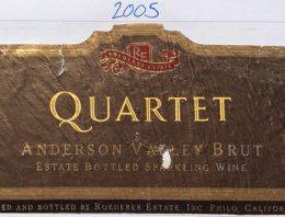 425. Roederer Estate, Quartet Anderson Valley Brut, 2005