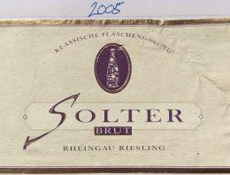 426. Solter, Rheingau Riesling Sekt Brut, 2005