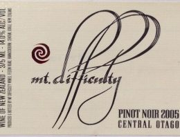 433. Mt. Difficulty, Pinot Noir Central Otago, 2005