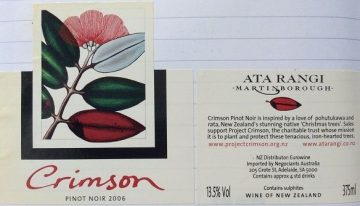 435. Ata Rangi, Crimson Pinot Noir Martinborough, 2006