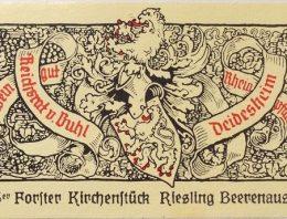 449. Reichstrat von Buhl, Forster Kirchenstück Riesling Beerenauslese, Pfalz, 1996