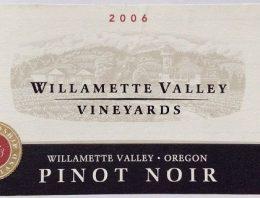 458. Willamette Valley Vineyards, Pinot Noir Willamette Valley Oregon, 2006