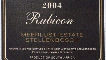466. Meerlust, Rubicon Stellenbosch, 2004