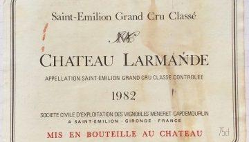 472. Château Larmande, Saint Emilion Grand Cru Classé, 1982