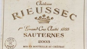 474. Château Rieussec, Sauternes 1er Grand Cru Classé, 2003