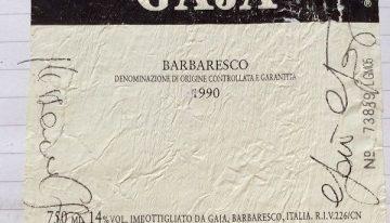 477. Gaja, Barbaresco, 1990