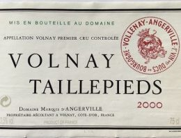 490. Marquis d'Angerville, Volnay 1er Cru Taillepieds, 2000