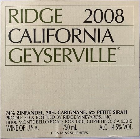 Ridge Vineyards label design icon