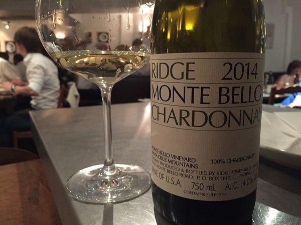 Ridge Monte Bello Chardonnay 2014