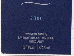 532. Miguel Torres, Conde de Superunda Curicó Valley Chile, 2000