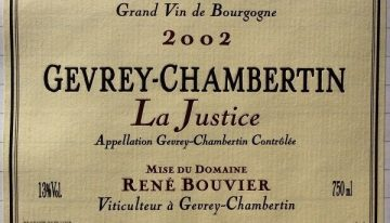 539. René Bouvier, Gevrey-Chambertin La Justice, 2002