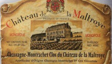 541. Château de la Maltroye, Chassagne-Montrachet 1er Cru Clos du Château de la Maltroye Monopole Rouge, 2001