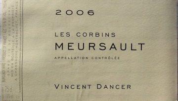 543. Vincent Dancer, Meursault Les Corbins, 2006