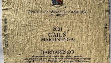 547. Marchesi di Grésy, Barbaresco Gaiun Martinenga, 2001