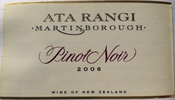 555. Ata Rangi, Pinot Noir Martinborough, 2006