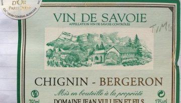 561. Domaine Jean Vullien, Chignin-Bergeron Vin de Savoie, 2009