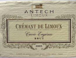 567. Antech, Crémant de Limoux Cuvée Eugénie Brut, 2005
