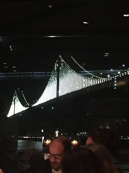 Bay Bridge LED lights artwork