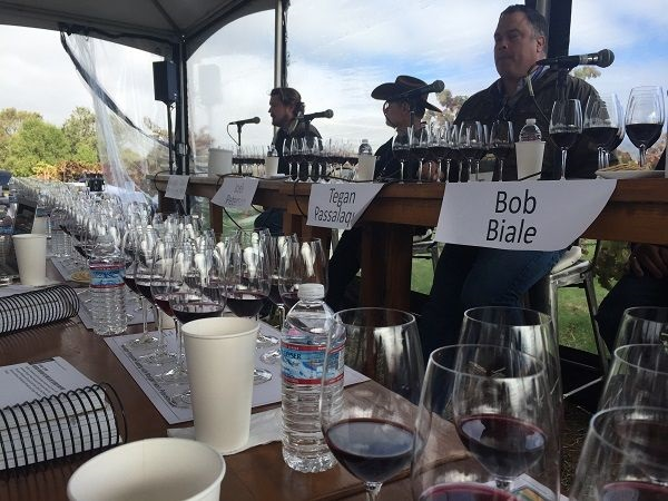 Bedrock vineyard masterclass tasting panel