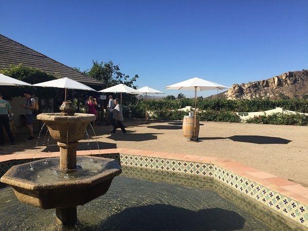 Bien Nacido Vineyard courtyard tasting
