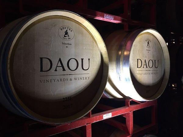 DAOU Vineyards barrel cellar barriques