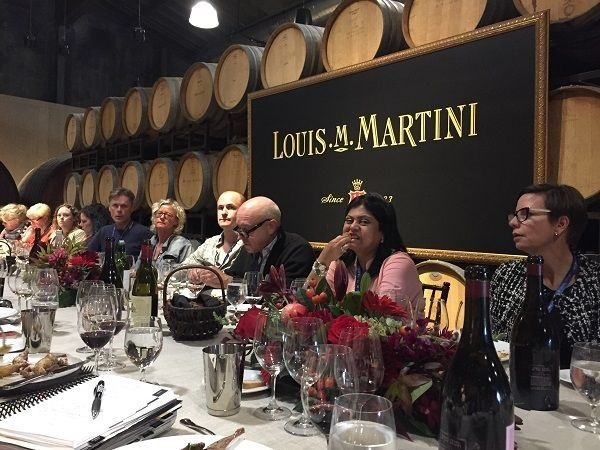 Louis M. Martini barrel cellar lunch