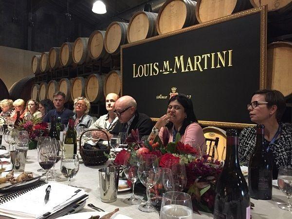 Louis M. Martini barrel cellar lunch