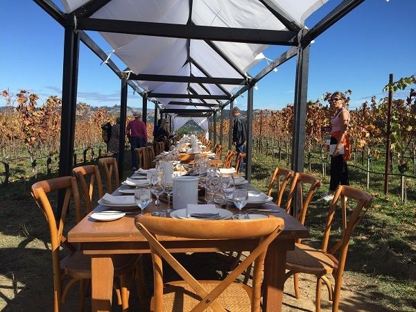 Hirsch Vineyard table lunch