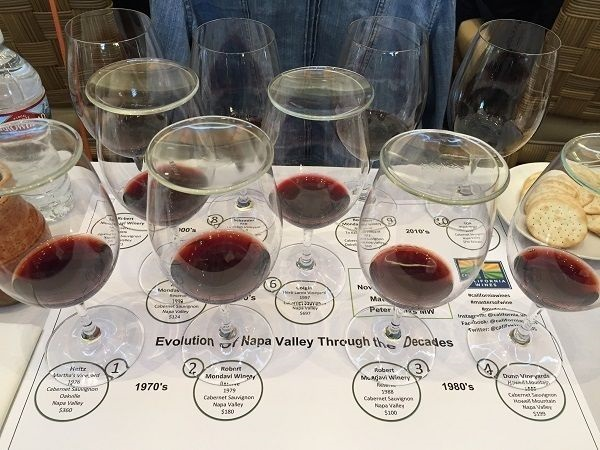 History of Napa Cabernet Sauvignon masterclass wines