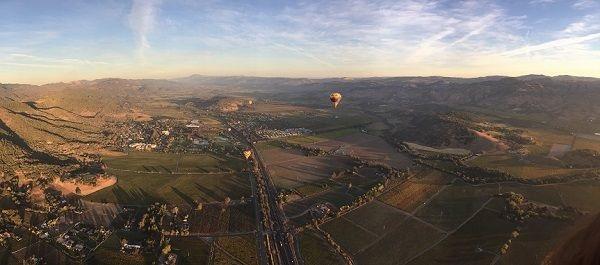 Napa Valley panorama California wine land