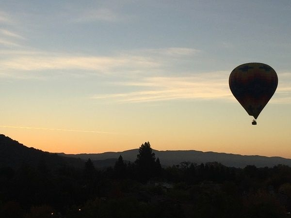 Hot air balloon take-off Napa Valley