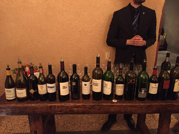 Napa Valley wines at Stag's Leap Wine Cellars dinner