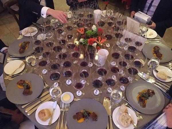 Stags Leap Wine Cellars wine dinner table
