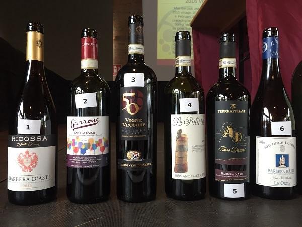 Barbera d'Asti wine bottles