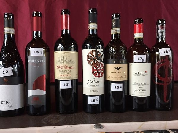 Barbera d'Asti Superiore wine bottles