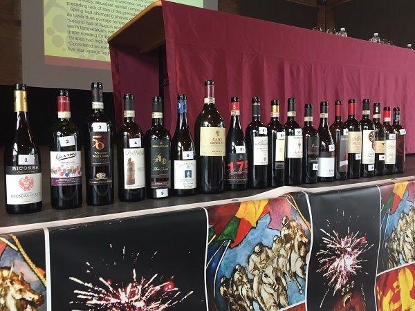 Barbera d'Asti tasting wines