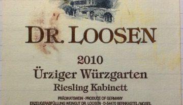 587. Dr. Loosen, Ürziger Würzgarten Riesling Kabinett Mosel, 2010