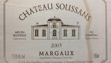 597. Château Soussans, Margaux, 2005