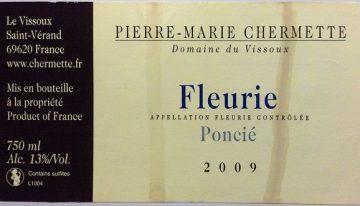 603. Domaine du Vissoux, Fleurie Poncié, 2009