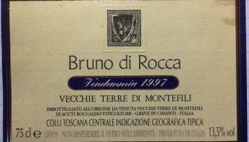 605. Vecchie Terre di Montefili, Bruno di Rocca IGT Colli Toscana Centrale,   1997