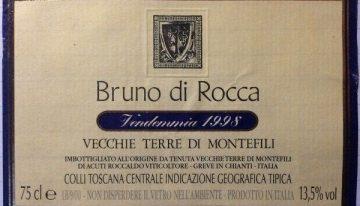 606. Vecchie Terre di Montefili, Bruno di Rocca IGT Colli Toscana Centrale, 1998