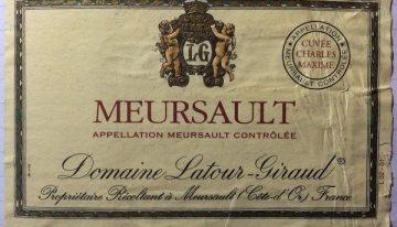 610. Domaine Latour-Giraud, Meursault Cuvée Charles Maxime, 2000