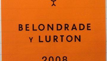614. Belondrade y Lurton, Rueda Verdejo, 2008