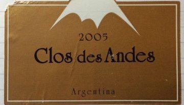618. Bodega Poesia, Clos des Andes Mendoza, 2005