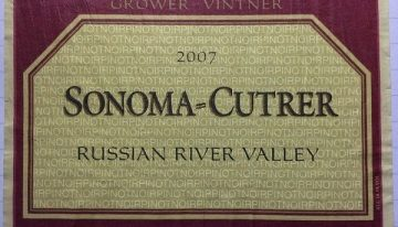 619. Sonoma-Cutrer, Pinot Noir Russian River Valley, 2007