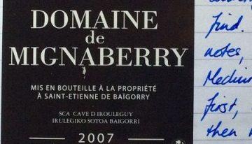 620. Cave d'Irouleguy, Domaine de Mignaberry Irouleguy, 2007